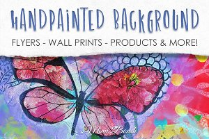 Handpainted abstract background 4