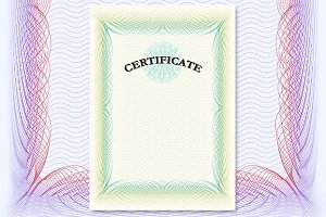 Certificate with green ornament