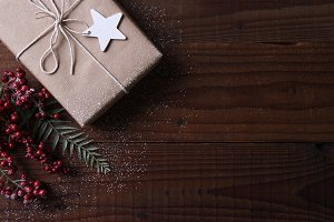 Present with a star gift tag