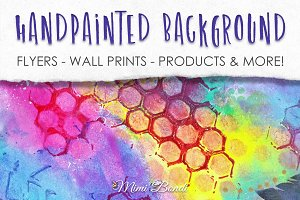 Handpainted abstract background 7