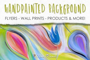 Handpainted abstract background 8