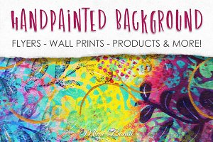 Handpainted abstract background 9