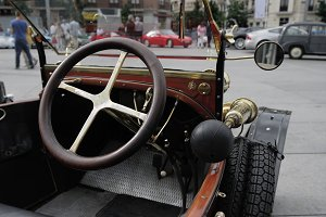 Historic car detail. Madrid show