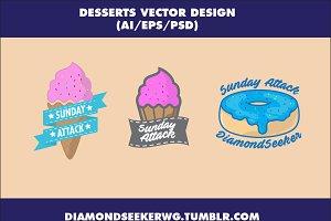 Desserts Vector