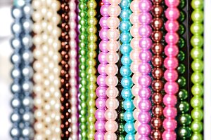 Beads in lines