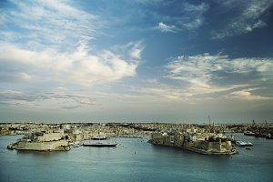 Malta. La Valetta, views of Sliema a
