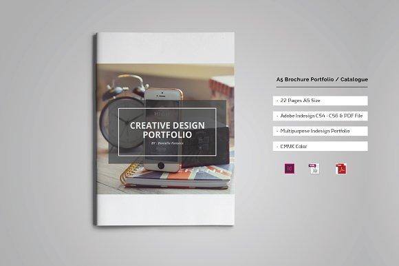 A5 Brochure Portfolio / Cat-Graphicriver中文最全的素材分享平台