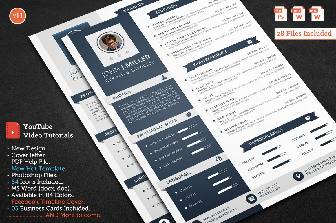 Smasher Cv Resume Resume Templates Creative Market