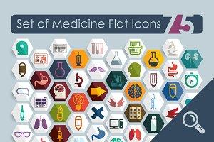 75 MEDICAL flat icons