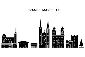 France, China, Hangzhou architecture vector city skyline, travel cityscape with landmarks, buildings, isolated sights on background