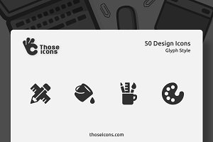 50 Design Vector Glyph Icon