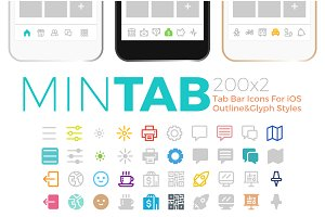 Mintab Minimal Tab Bar Icons for iOS