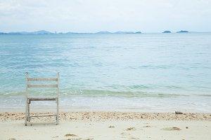 White wooden chair.