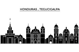 Honduras , Tegucigalpa architecture vector city skyline, travel cityscape with landmarks, buildings, isolated sights on background