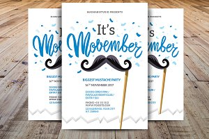 Minimal Movember Flyer Template