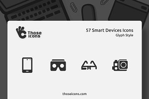 57 Smart Devices Glyph Icon