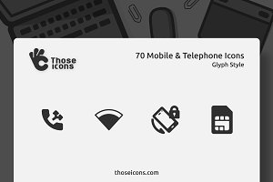 70 Mobile & Telephone Glyph Icon