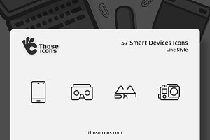 57 Smart Devices Vector Line Icon