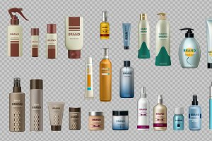 Vector realistic cosmetic bottle