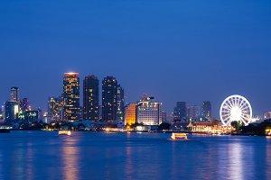 Bangkok city at night.