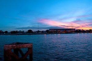 Panorama Chao Phraya river.