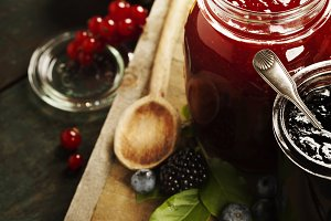 Fruit and berry jam