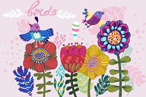 Birds&Flowers