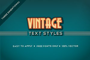 3D Vintage Graphic Style Pack