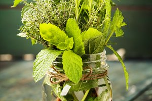 Fresh italian herbs