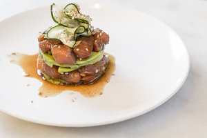 Delicious salmon tartar