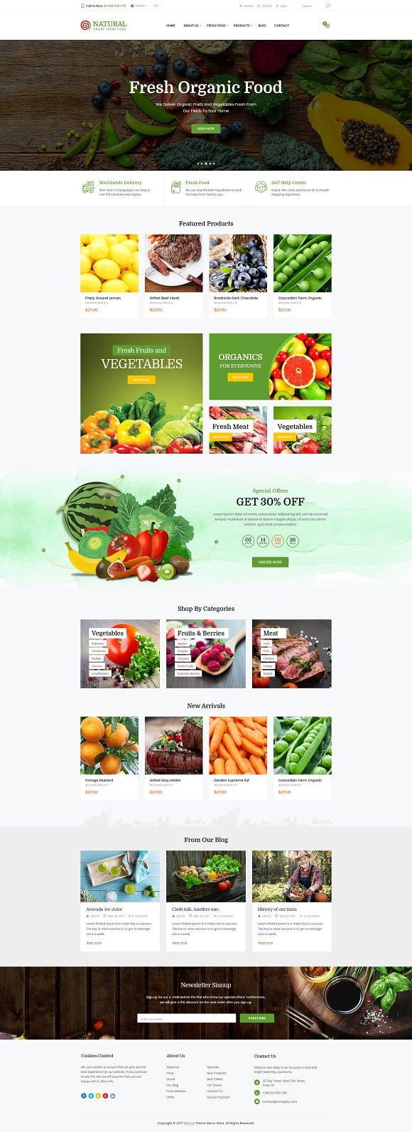 Natural online food wordpress them wordpress commerce themes natural online food wordpress them wordpress commerce themes creative market forumfinder Choice Image