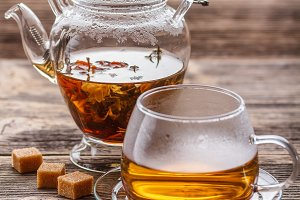 Blooming green tea