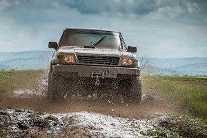 Very muddy jeep
