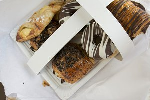 Assorted sweet pastry tray