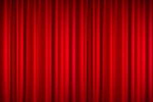 Realistic Red Theatrical Curtain