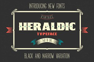 Two heraldic fonts