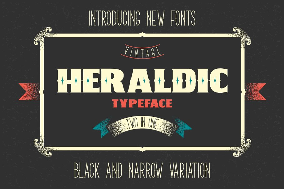 Two heraldic fonts