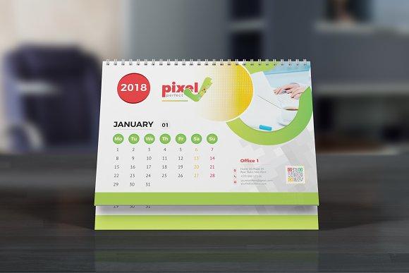 Desk calendar 2018 stationery templates creative market saigontimesfo