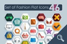 46 FASHION flat icons