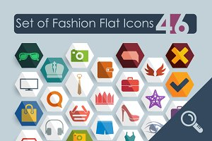 46 FASHION flat icons