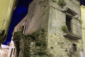 Night Stilo village, Italy.