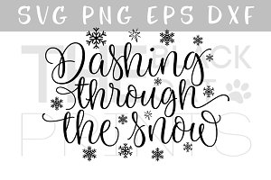 Dashing through the snow SVG DXF PNG