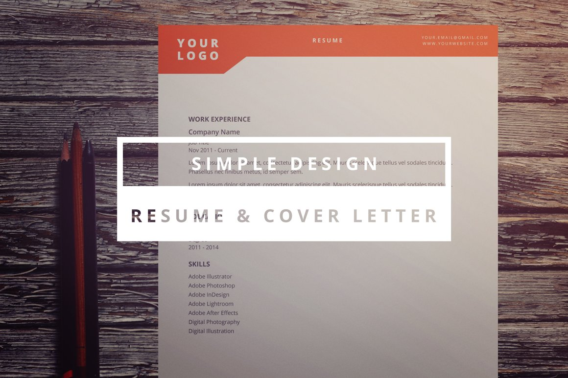 simple design resume cover letter stationery templates