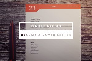 Simple Design Resume & Cover Letter