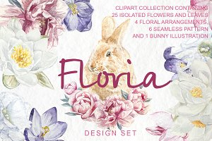 Floria Clipart Design Set