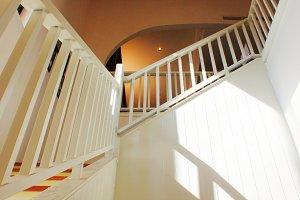 white handrail