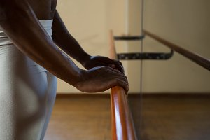 Ballerino holding barre
