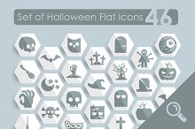 46 HALLOWEEN flat icons