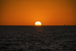 Sunset at Rio de la Plata