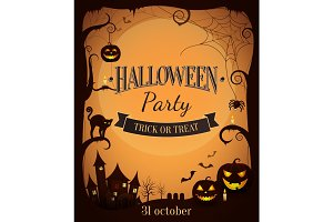 Halloween Party Trick or Treat Promotional Poster